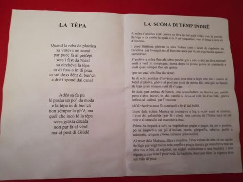 I due testi in dialetto letti ai ragazzi