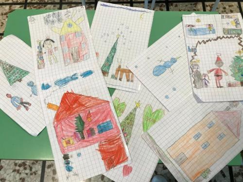 ... alcuni disegni dei bambini...